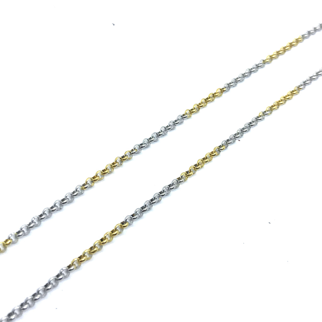 "ESCH 6146: 19"" 2-Tone Thin Cable Chain"