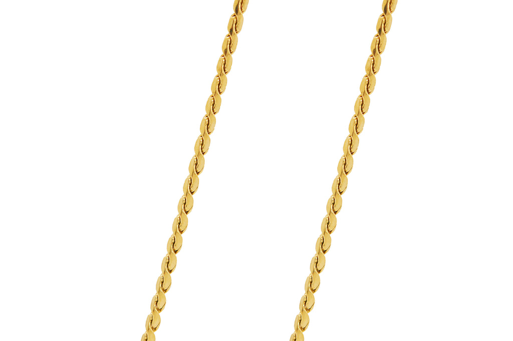 "ESCH 6185: 19"" Gold PLated Non-Stretch Tight San Marco Chain"