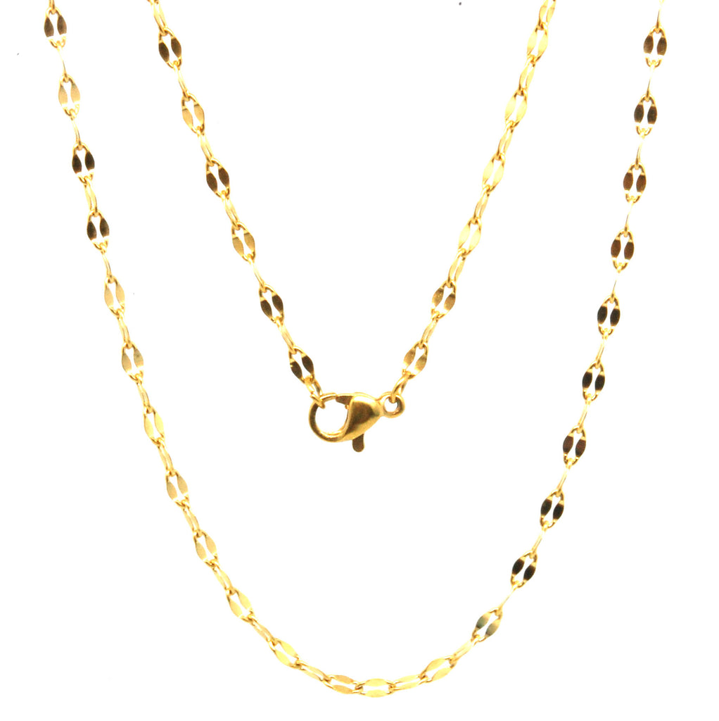 "ESCH 6369: 19"" Gold-Plated Turtle-Linked Chain"