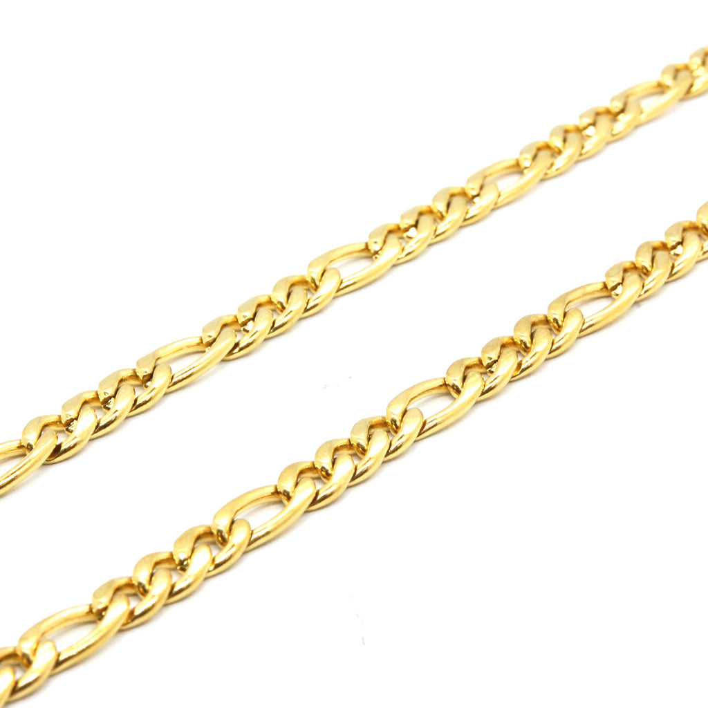 "ESCH 6726: 23"" Gold Plated Figaro Chain (5mm)"