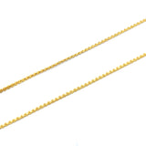 "ESCH 6732: 18.5"" Gold Plated Non-Stretch Ultra Thin Crimpable Chain"