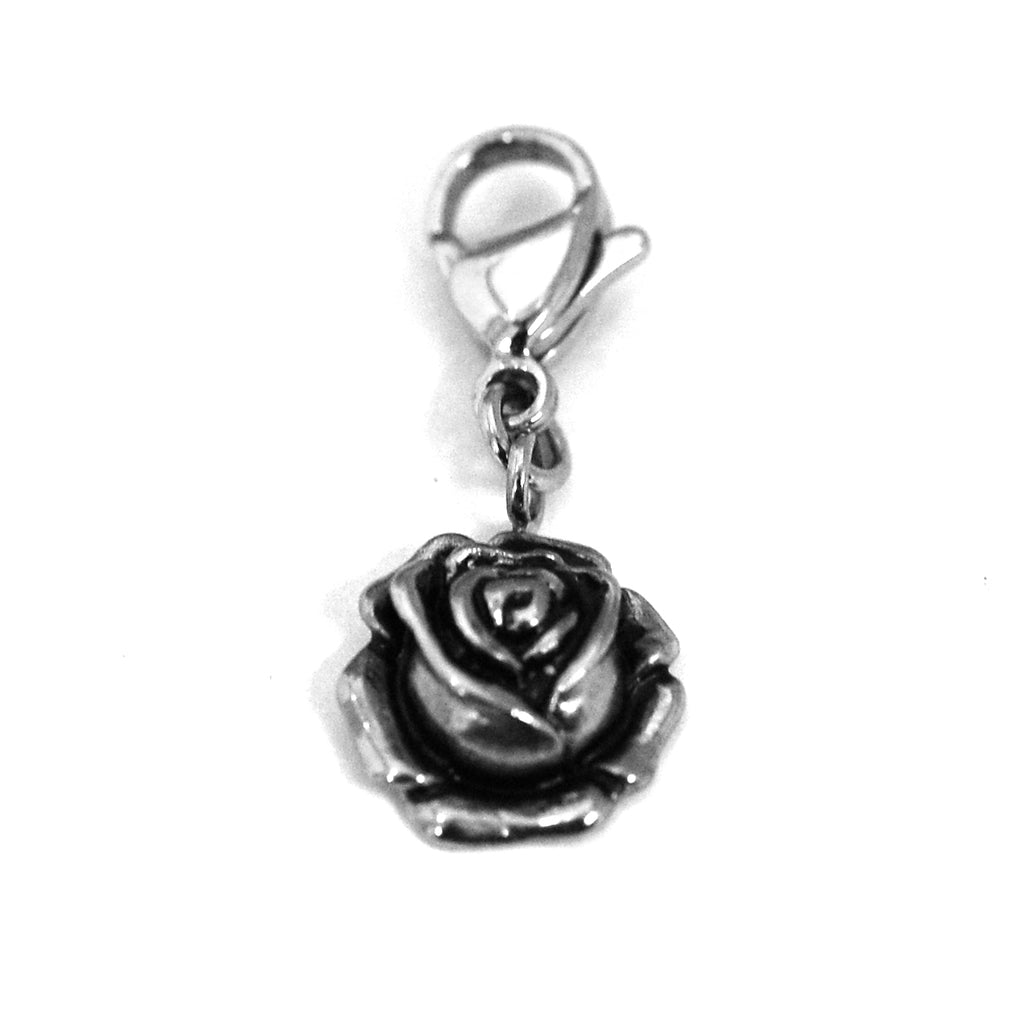 ESCM 4815: Lobster Lock Elegant Rose Charm