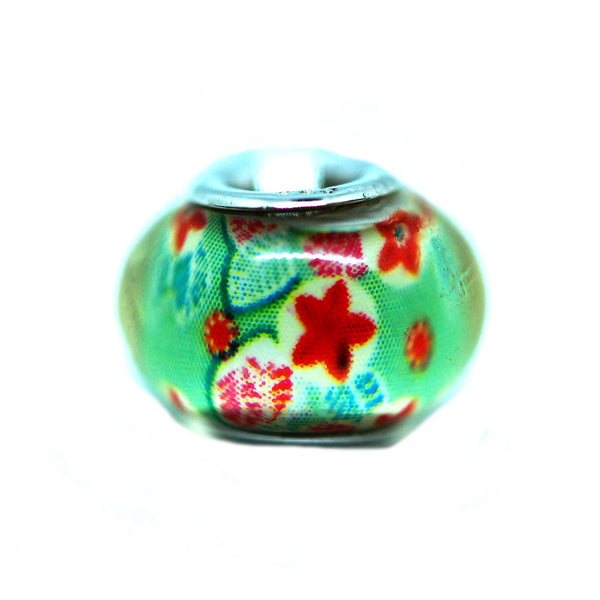 ESCM 4781: Emo P-Blet Murano Garden Of Hope Charm (Red, Green)