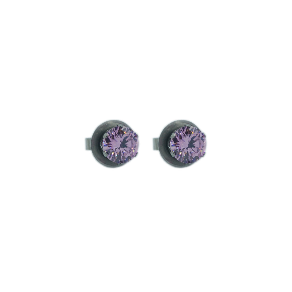 ESE 4947: Pink Blossoms 7mm Cz Circle Studs