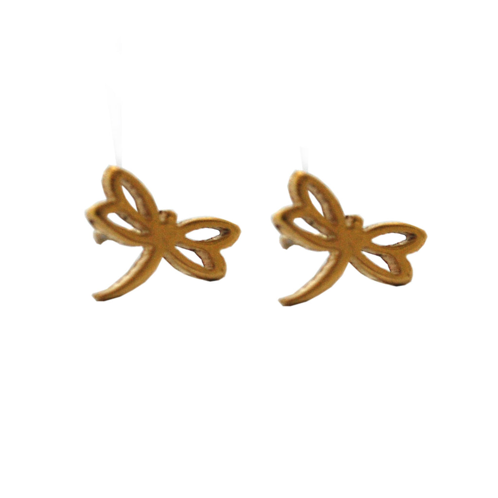 ESE 5255: Gold Plated Firefly Stud Earrings