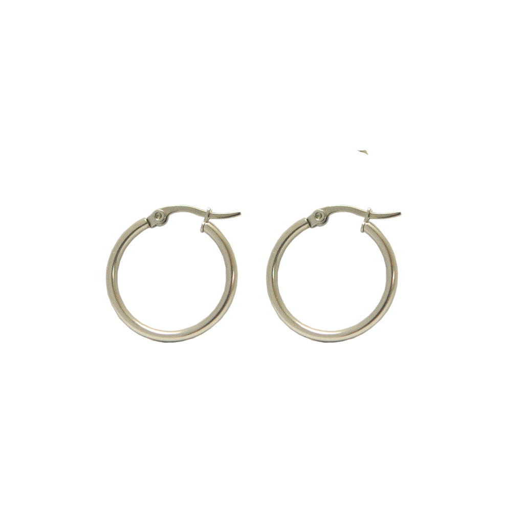 ESE 5400: Classic 15mm Glossy Hoop Earrings