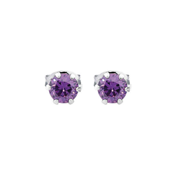 ESE 5408: Purple Power 3mm Circle Cz Studs