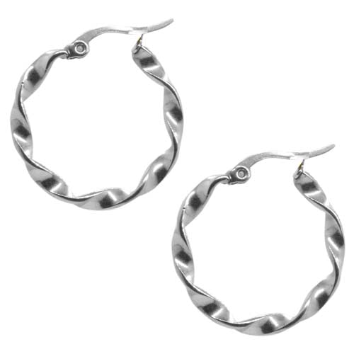 ESE 5521: 25mm Twisted Hoop Earrings