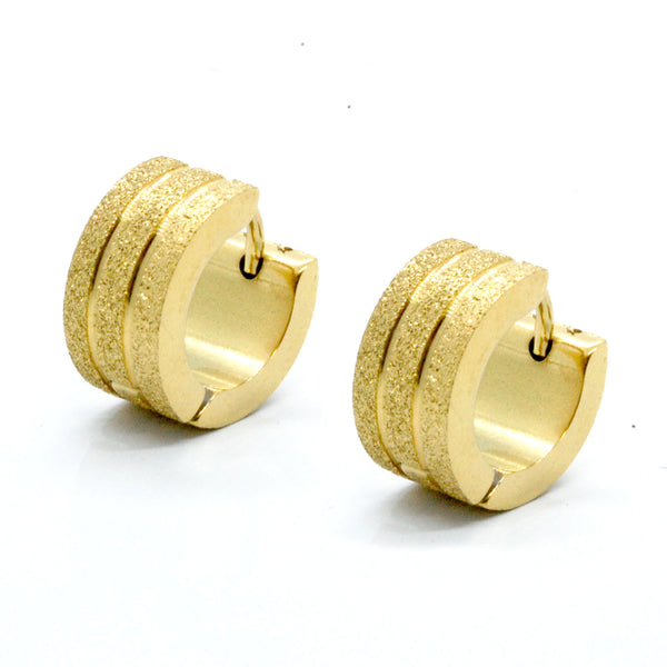 ESE 5862: 3-Lined Gold-Plated Sandblasted Creollas