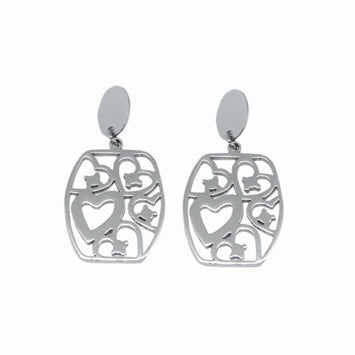 ESE 6290: Enclosed 5-Of-Hearts Dangling Earrings