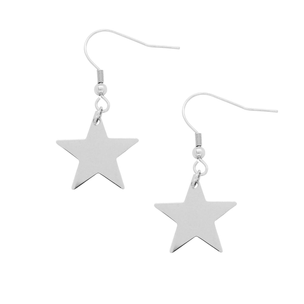 ESE 6292: Solid Star Dangling Earrings