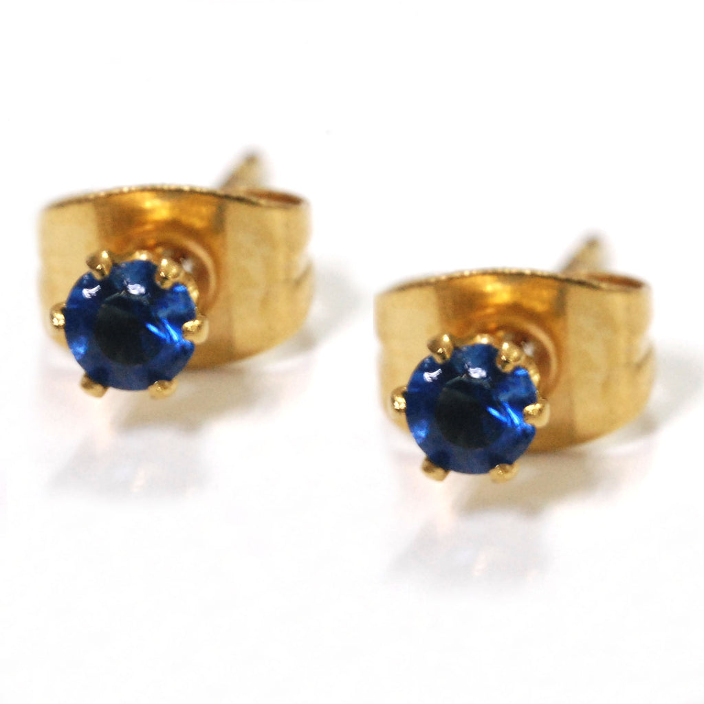 ESE 6312: Gold-Plated Multi-Colored 3mm Circle Studs