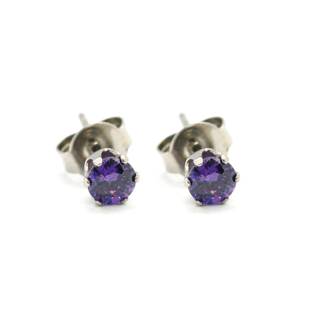 ESE 5417: Purple Blast 5mm Circle Cz Studs