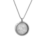 "ESN 4616: 30mm Love Cz Locket w/ MOP Back (18""+2"" Chain & Free 1-Side Face Engrave)"
