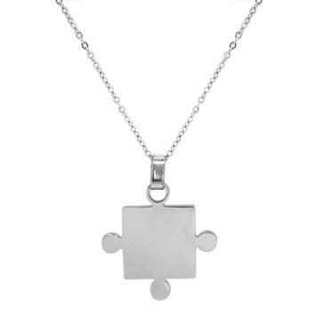 ESN 5550: Couple Jigsaw Necklace w/ 17.5