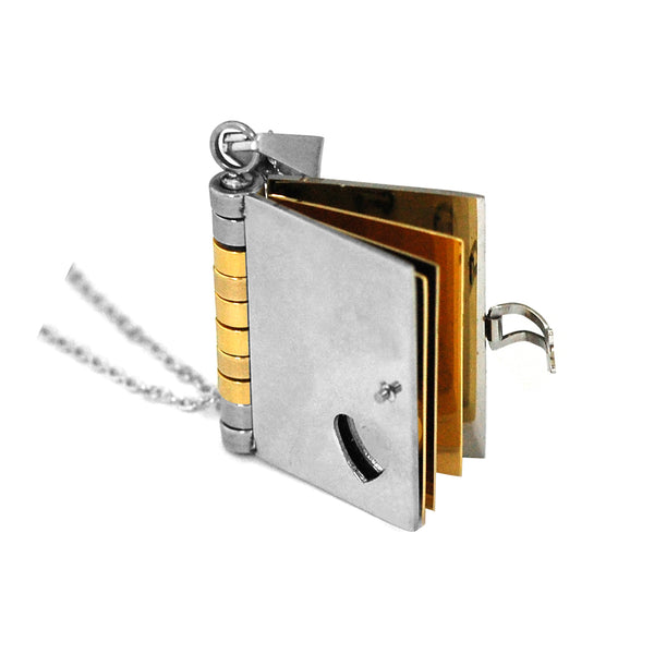 ESN 4994: EMO Medium 6-Page Diary Necklace w/ 18