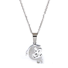 SET 5031: Grows Heart w/ 1 Cz Couple Necklace Set (w/ 19