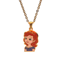SET 5329: Gold Plated Princess Sofia The First Necklace & Earrings Set