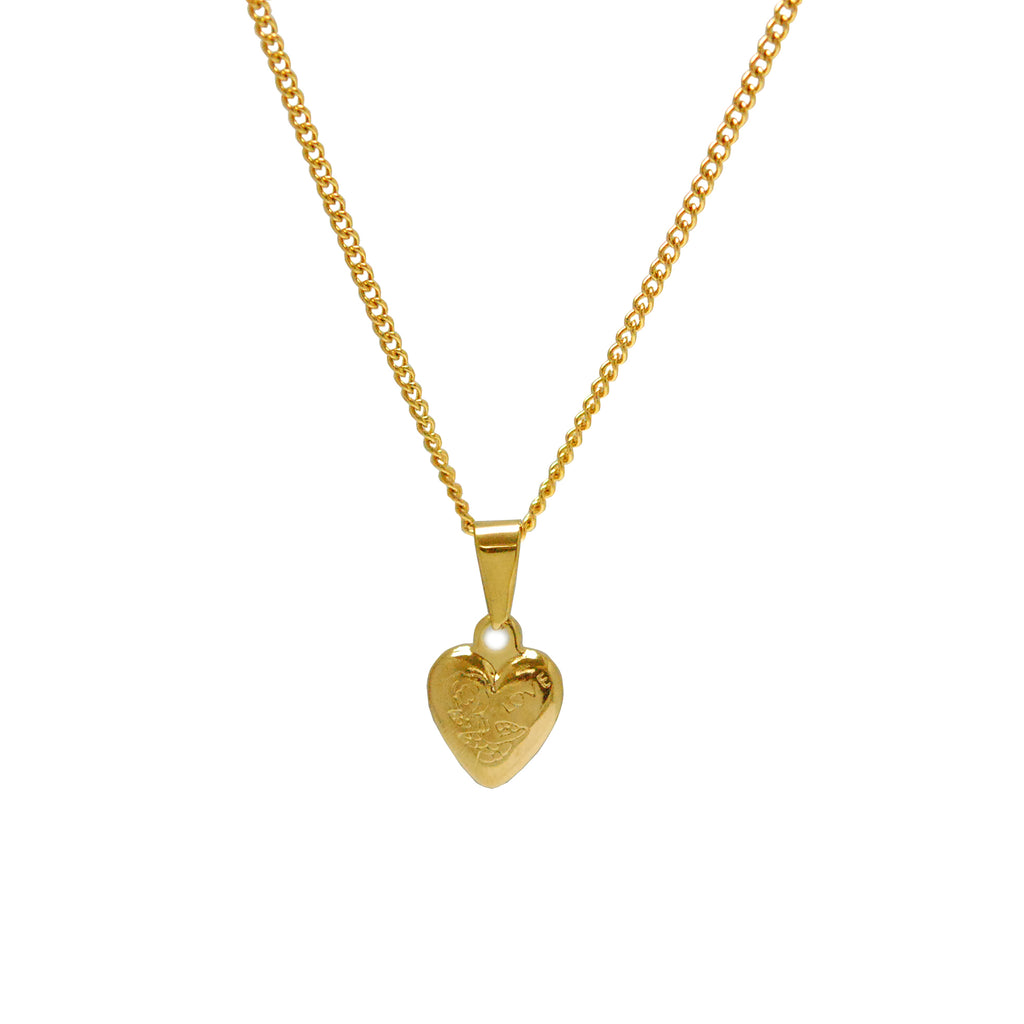 "ESN 5448: 'I'm In Love w/ You Heart Necklace w/ 19"" Gold Plated P/O Chain"