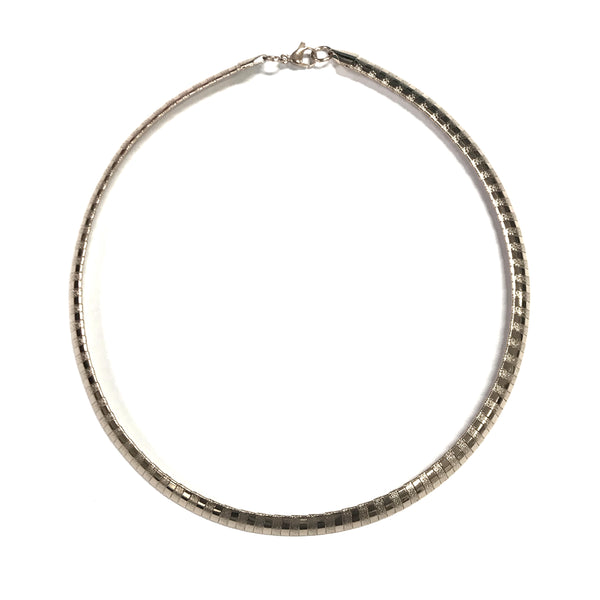 ESN 6594: Striped 8mm Omega Chain Necklace