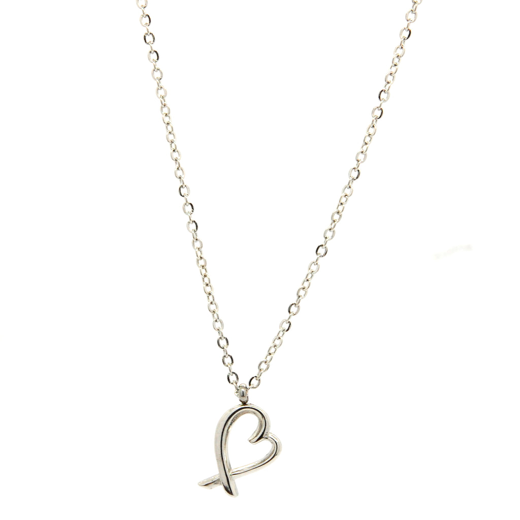 "ESN 6655: Korean ""I Love You"" Heart Necklace w/ 15"" + 2"" Chain"