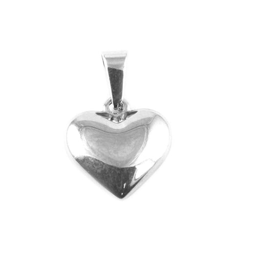 ESP 5663: Solid Engravable Heart Pendant Medium