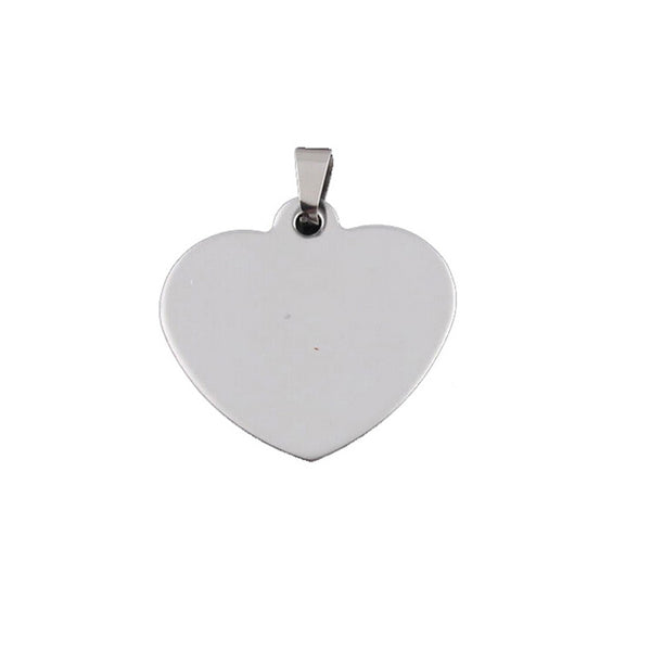 ESP 4847: Large Heart Dogtag Pendant (w/ Free Face Engrave)