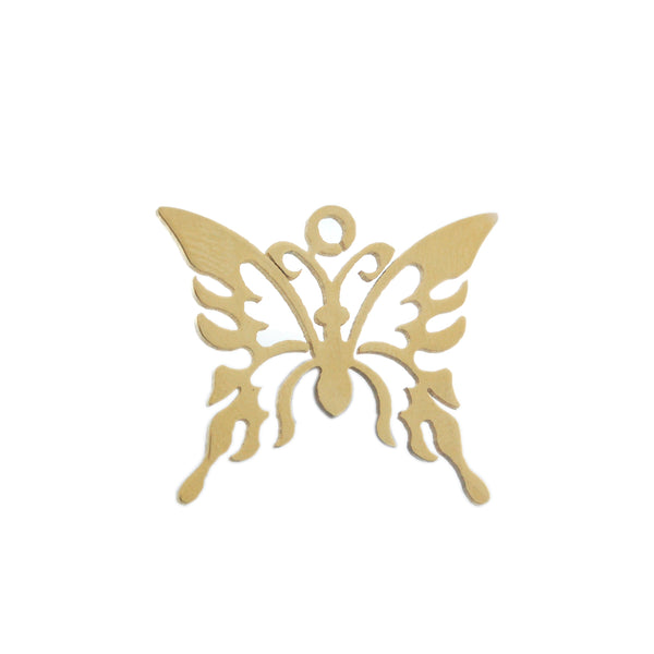 ESP 5093: Gold Plated Fly Butterfly Pendant