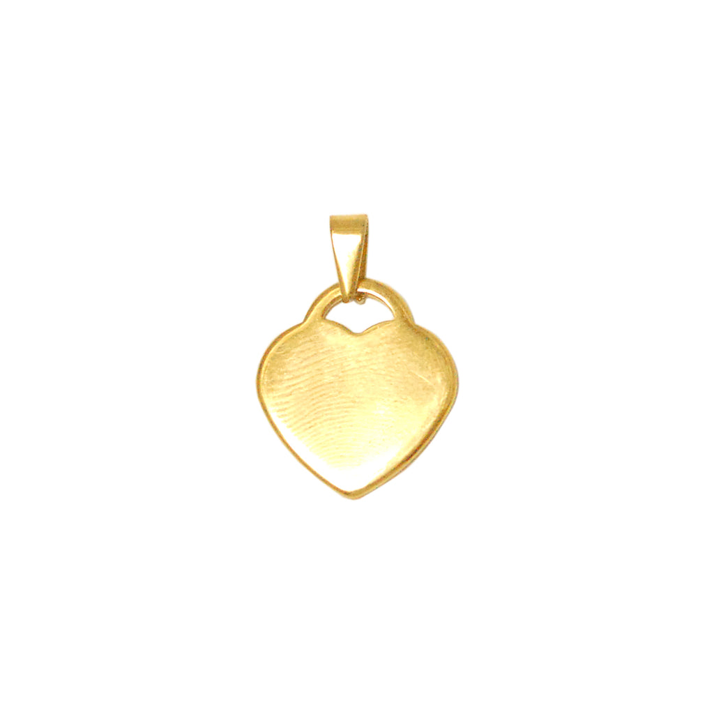 ESP 5744: Gold Plated Small Heart Dog Tag w/ Free Face Engraving