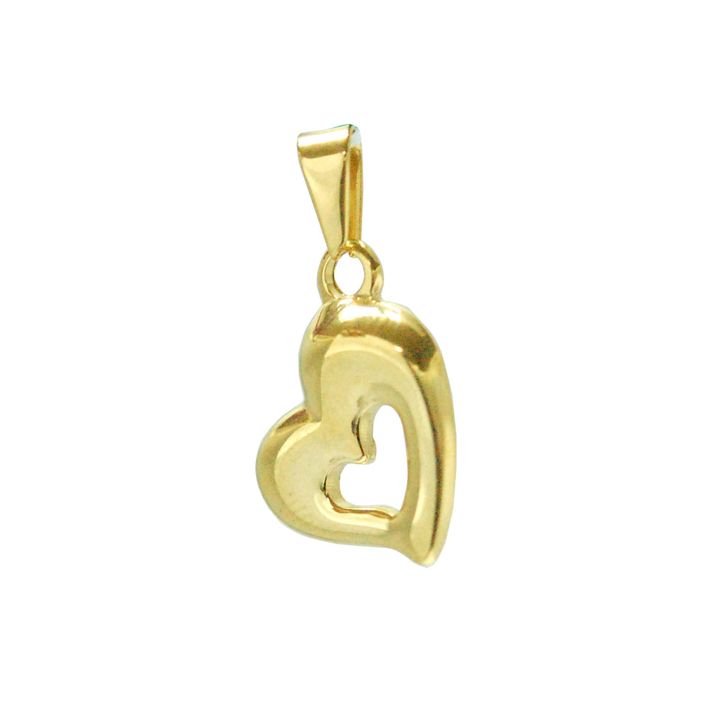 ESP 5758: Gold-Plated Sideways Heart Outline Pdant