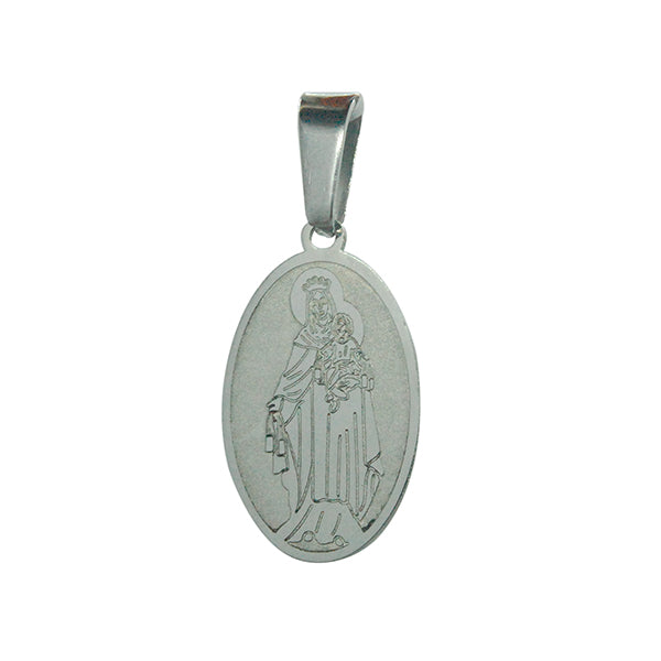 ESP 5920: Medium Oval Virgin Mary w/ Child Pendant