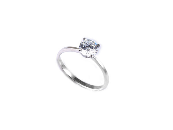 ESR 6603: Sylvia 1-Carat 4-Prong Brilliant Ring