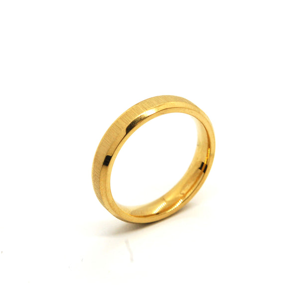 ESR 6634: Susan All Gold 4mm Satin Finish Band