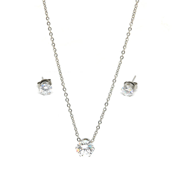 SET 6817: Cece 8mm Solitaire Nlace & 5mm Cz Stud Set