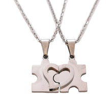 SET 5328: Couple Jigsaw w/ Heart Necklace w/ 19