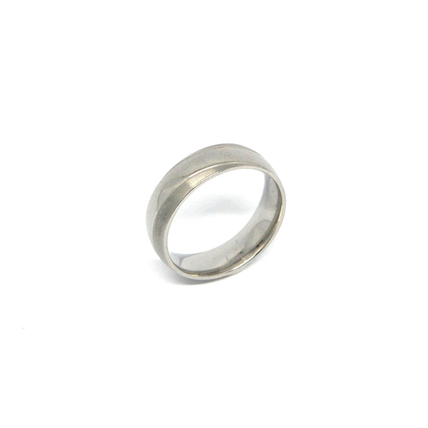 ESR 6274: Carly Matte Wedding Ring w/ Gloss Swirl Design