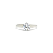 ESR 6812: Emma 1-Carat Solitaire Ring w/ Solid Band