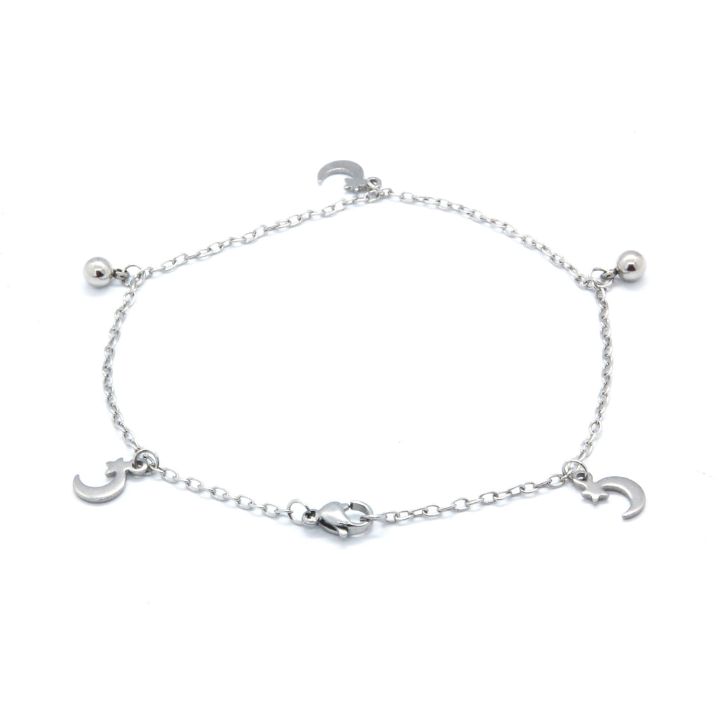 ESA 5698: Starry Night Anklet w/ 2 Ball Charms