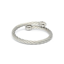ESBG 6716 : Male Charriol S/S Twisted Rope Bg w/ Long Barrel Ends