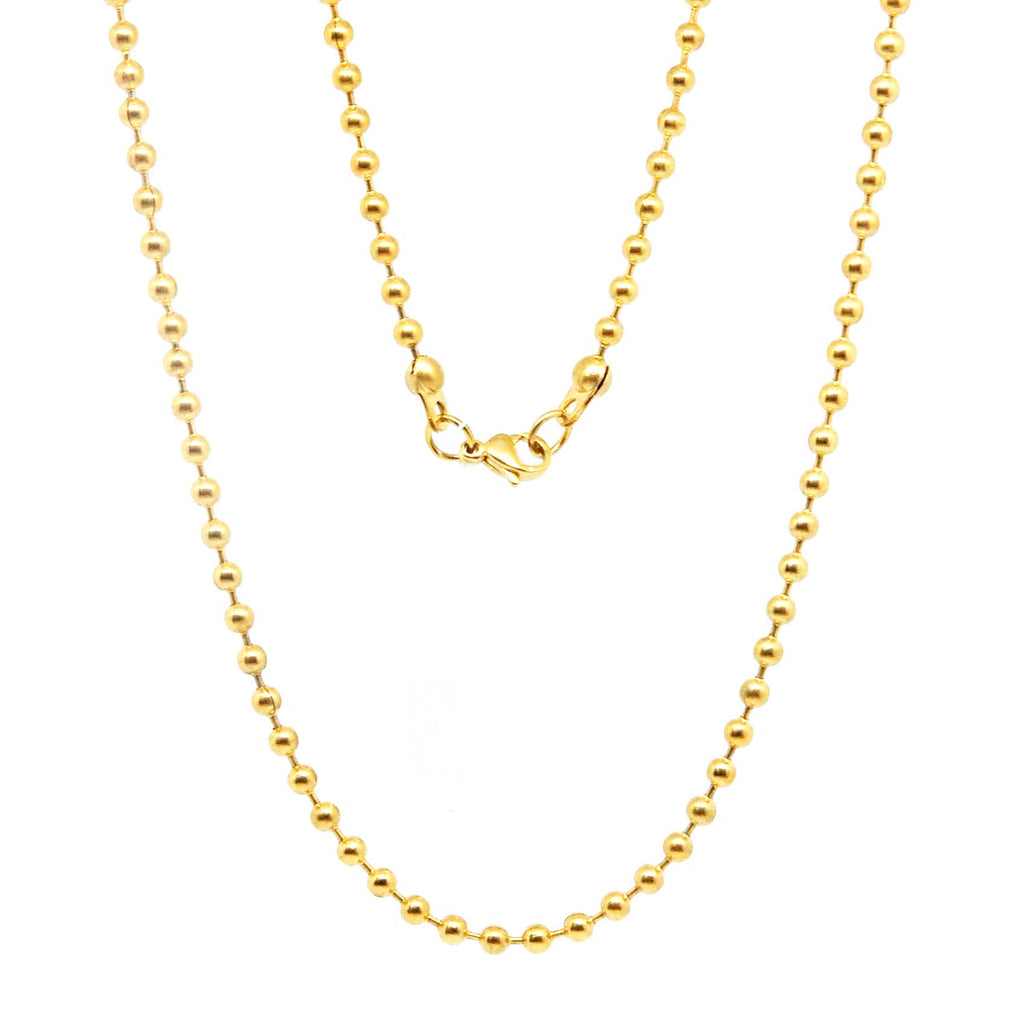 "ESCH 5606: 21"" Gold Plated Ball Chain (2mm)"