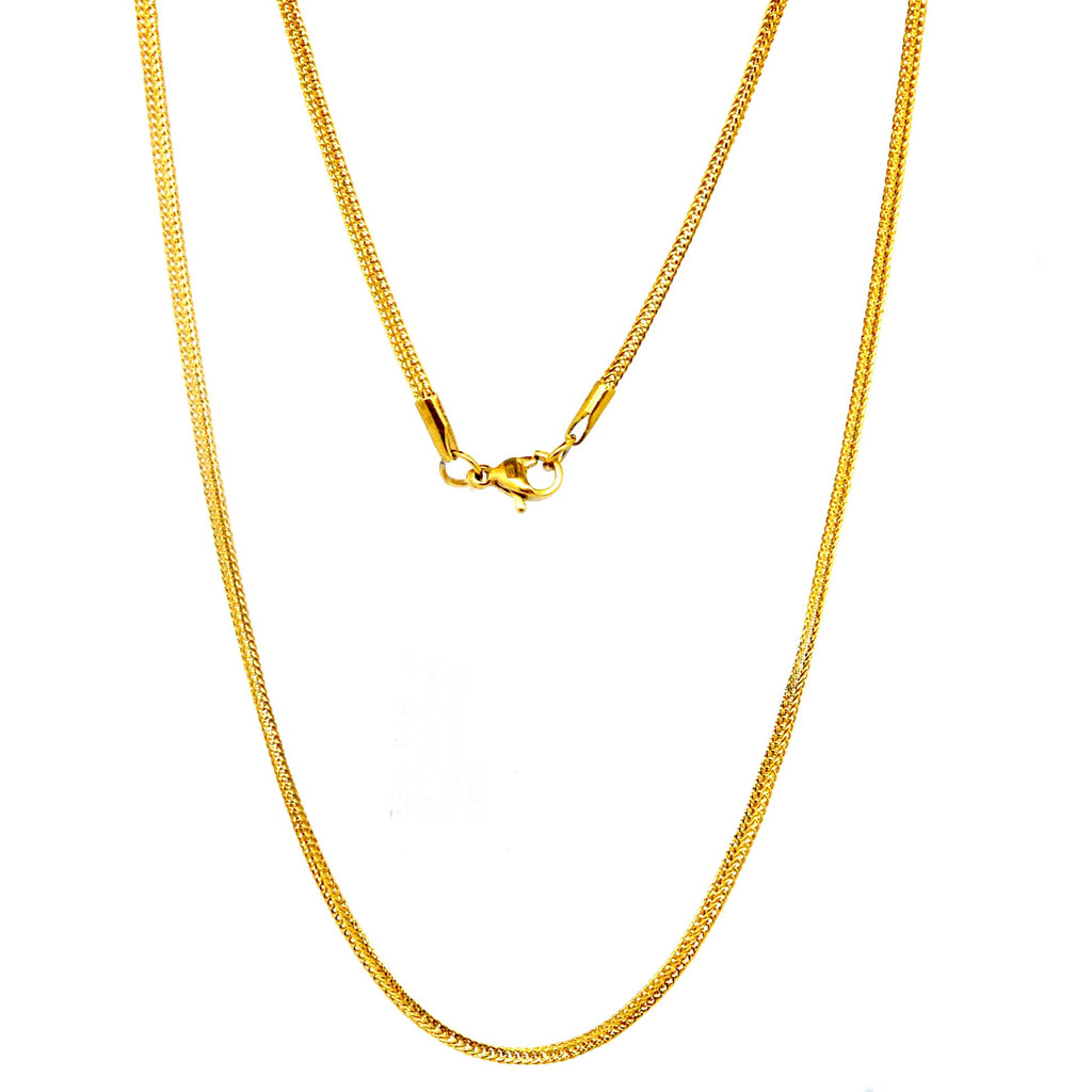 "ESCH 1100: 18"" Gold-Plated Hexagon Chain (1mm)"