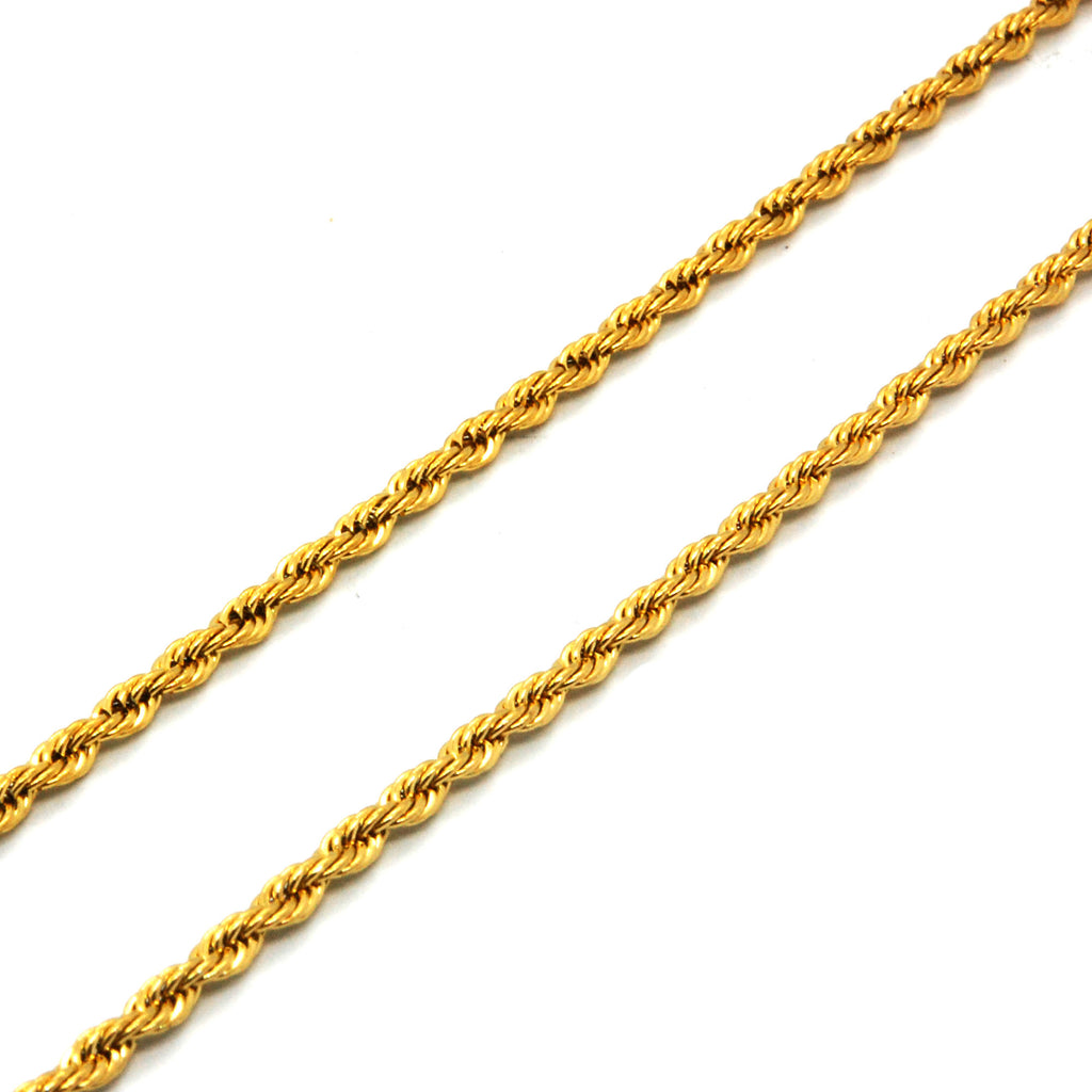 "ESCH 6587: 23"" Gold-Plated Medium Twisted Rope (2mm)"