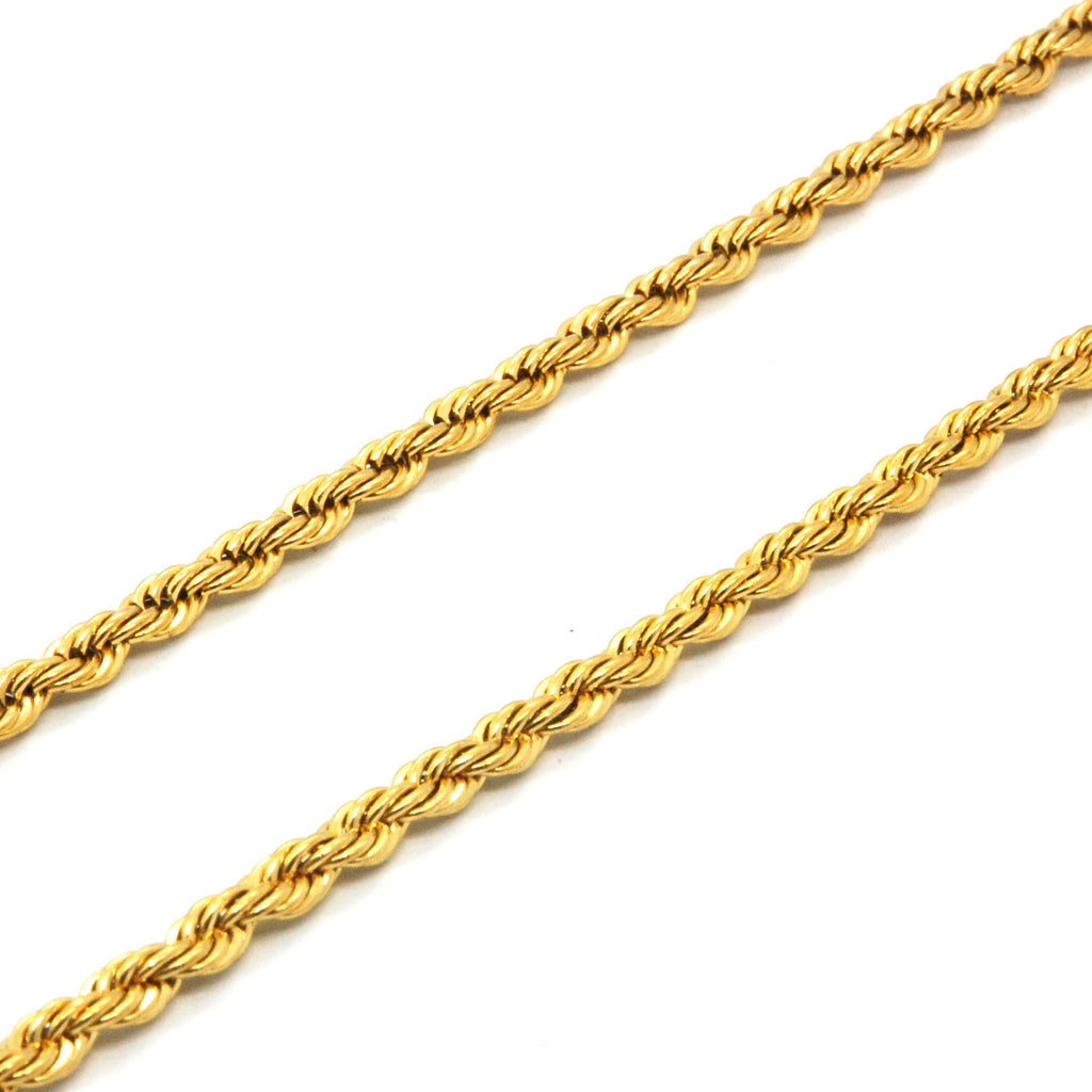 "ESCH 6588: 23"" Gold-Plated Twisted Rope (3mm)"