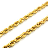"ESCH 6589: 23"" Gold-Plated Large Twisted Rope (5mm)"