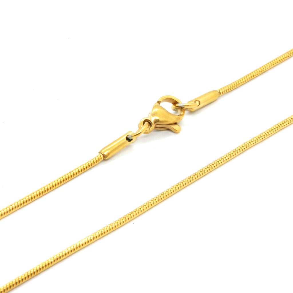 "ESCH 6592: 17"" Gold-Plated Snake Chain"