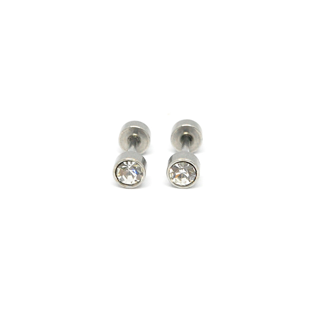 ESE 6774: Enclosed 4mm Studs w/ Baby Safe Chapita