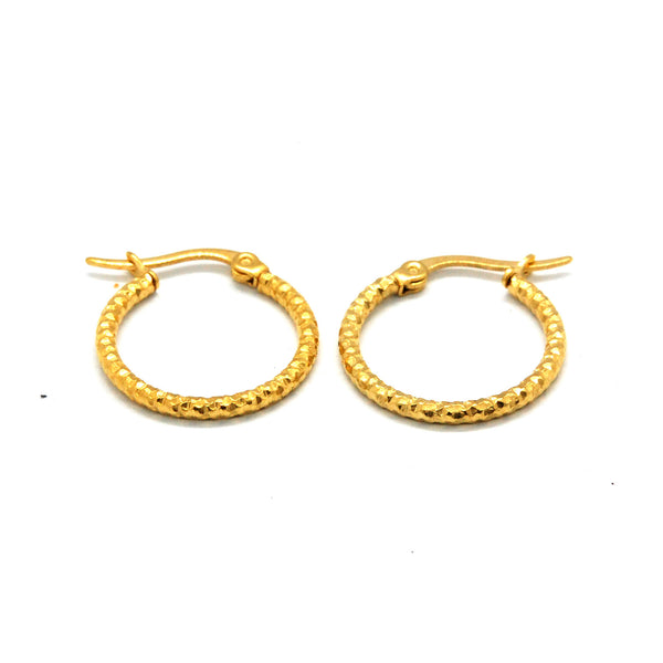 ESE 6115: 19mm Gold Plated Tightly Twisted Hoops