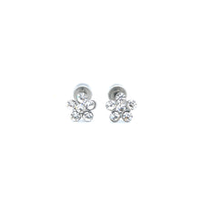ESE 7050: Pair of 6-Cubic Zirconia Rositas Earrings w/ Child Safe Chapita
