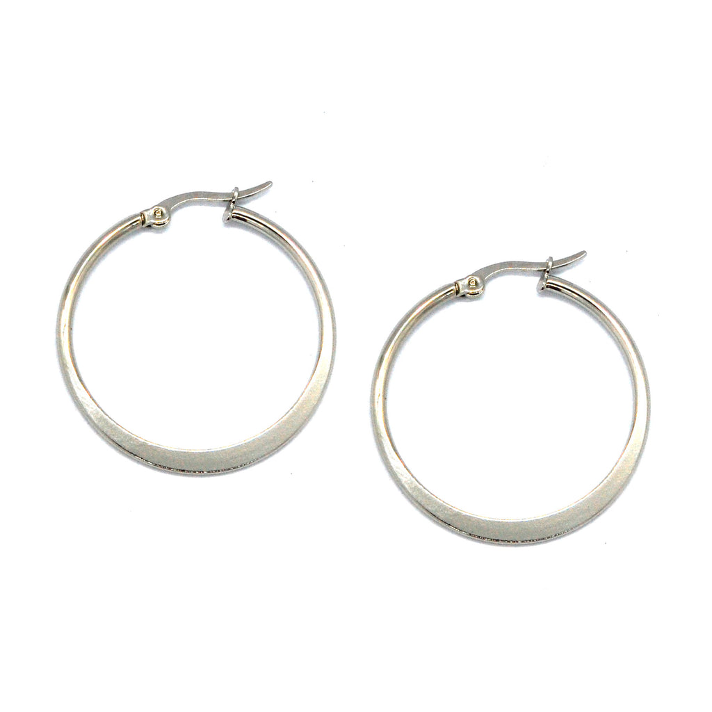 ESE 6564: 35mm Flat Hoop Earrings