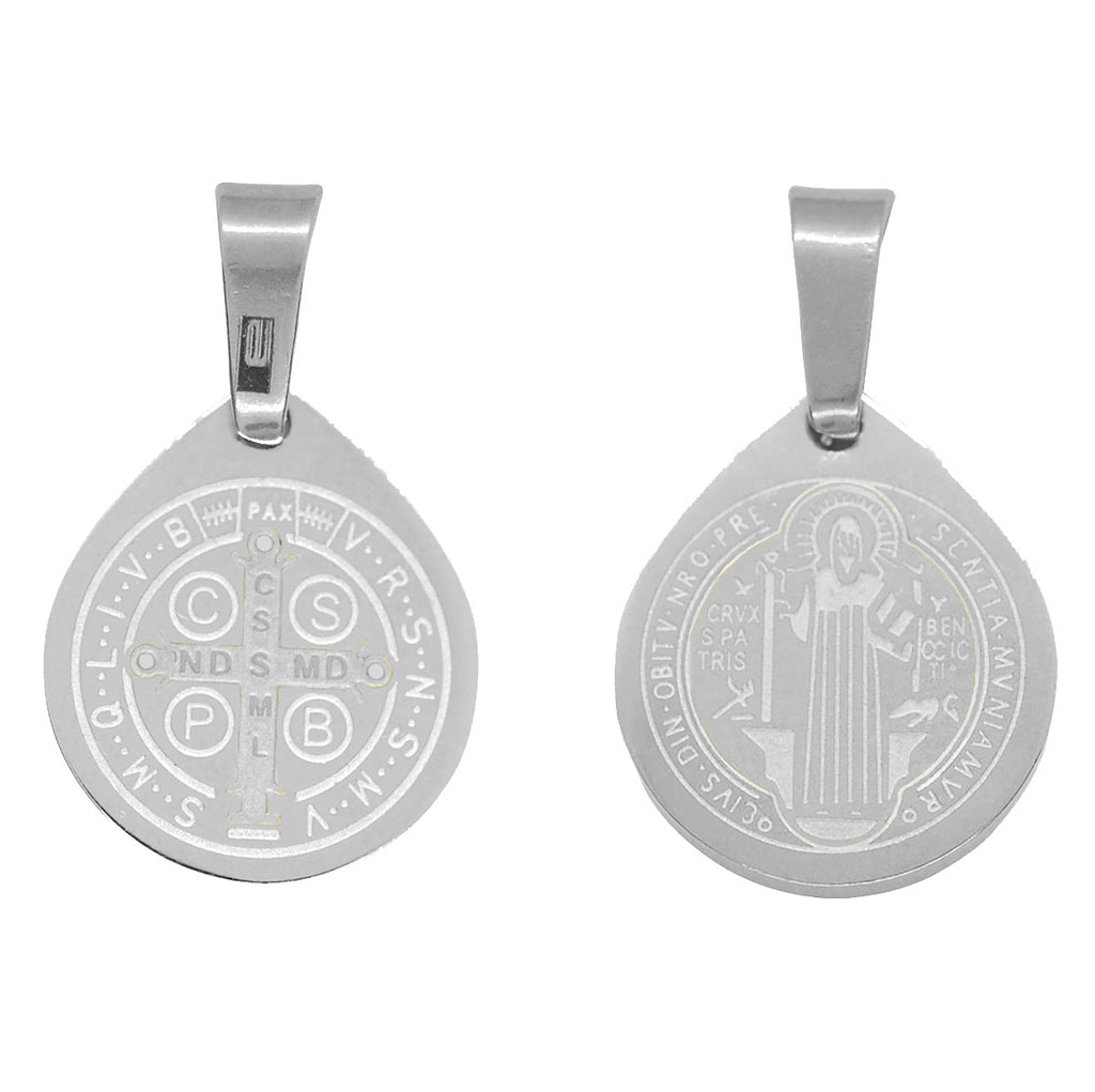 ESP 6127: Small St. Benedict Double Sided Circle Pendant